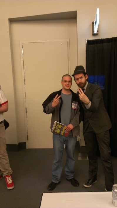 Myself and Ben Templesmith, one of my favorite comic book artists of all time.
