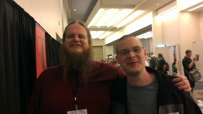 Myself and Justin Jordan, comic book author and illustrator.