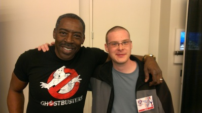 Myself and Ernie Hudson, star of films like GHOSTBUSTERS and many others.
