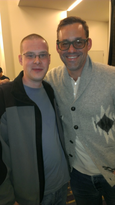 Myself and Nicholas Brendon, Xander on BUFFY THE VAMPIRE SLAYER.